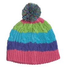 Snow Dragons Multicolor Hat (For Girls) in Multi-Striped - Closeouts