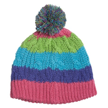 Snow Dragons Multicolor Hat (For Girls) in Multi-Striped