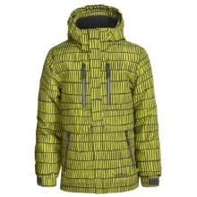 Snow Dragons Neptune Ski Jacket - Waterproof, Insulated (For Little Boys) in Avocado Helio Print - Closeouts