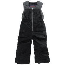Snow Dragons Nestor Ski Bib Overalls - Insulated (For Little Boys) in Black - Closeouts