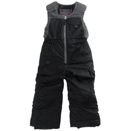 Snow Dragons Nestor Ski Bib Overalls - Insulated (For Little Boys) in Black