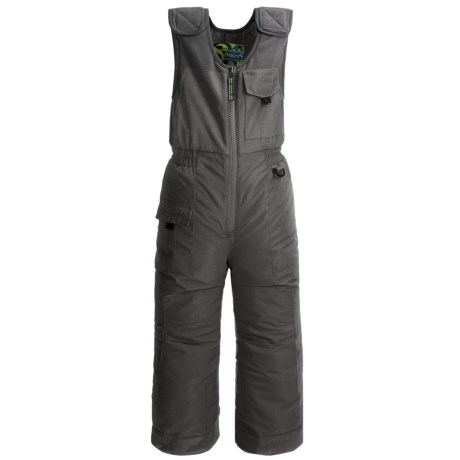Snow Dragons Nestor Ski Bib Overalls - Insulated (For Little Boys) in Gray Shadow/Gray Shadow