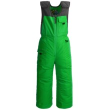Snow Dragons Nestor Ski Bib Overalls - Insulated (For Little Boys) in Green Everglade - Closeouts