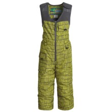 Snow Dragons Nestor Ski Bibs - Insulated (For Toddler Boys) in Avocado Helio Print - Closeouts