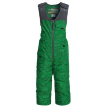 Snow Dragons Nestor Ski Bibs - Insulated (For Toddler Boys) in Green Heilo Print - Closeouts