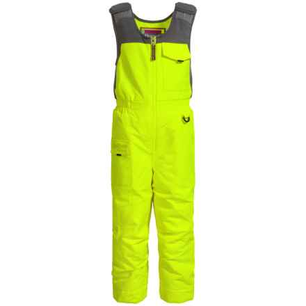 Snow Dragons Nestor Snow Bibs - Waterproof, Insulated (For Toddlers and Little Boys) in Electric Yellow - Closeouts