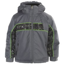 Snow Dragons Planker Jacket - Insulated (For Little Boys) in Steel/Cool Thrasher/Lime Light - Closeouts