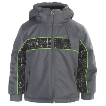 Snow Dragons Planker Jacket - Insulated (For Little Boys) in Steel/Cool Thrasher/Lime Light