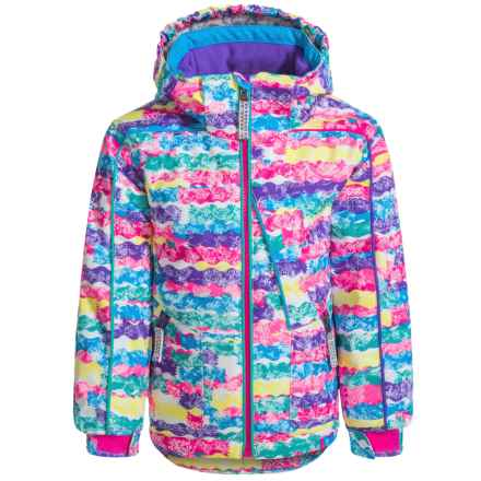 Snow Dragons Razzy Ski Jacket - Waterproof, Insulated (For Toddlers and Little Girls) in Squiggle Print - Closeouts