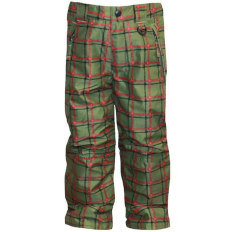 Snow Dragons Rock Solid Snow Pants - Insulated (For Little Kids) in Army Plaid