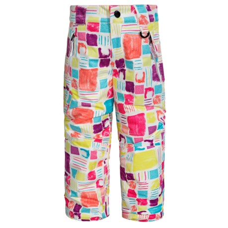 Snow Dragons Rock Solid Snow Pants - Insulated (For Little Kids) in Block Print