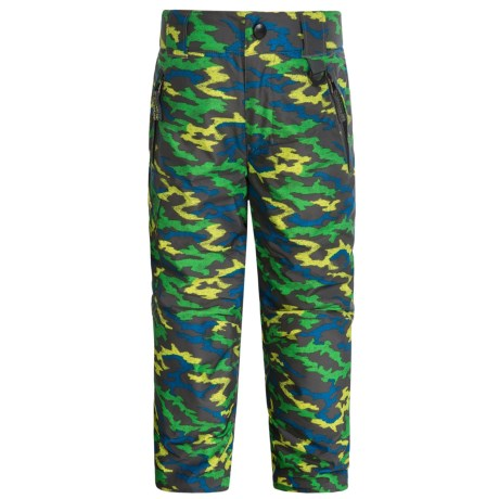 Snow Dragons Rock Solid Snow Pants - Insulated (For Little Kids) in Gray Camo