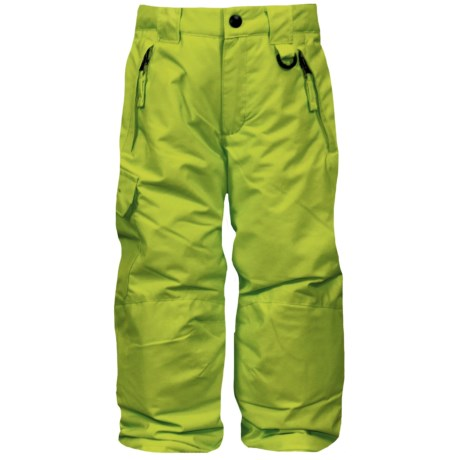 Snow Dragons Rock Solid Snow Pants - Insulated (For Little Kids) in Lime Blast