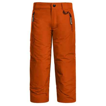 Snow Dragons Rock Solid Snow Pants - Insulated (For Little Kids) in Orange Flame - Closeouts