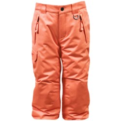 Snow Dragons Rock Solid Snow Pants - Insulated (For Little Kids) in Topaz Houndstooth/Orchid