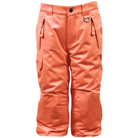 Snow Dragons Rock Solid Snow Pants - Insulated (For Little Kids) in Sherbert Orange