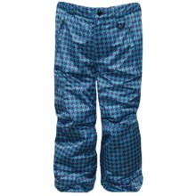 Snow Dragons Rock Solid Snow Pants - Insulated (For Little Kids) in Topaz Houndstooth/Orchid - Closeouts