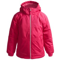 Snow Dragons Snappy Jacket - Insulated (For Little Girls) in Topaz Houndstooth/Orchid
