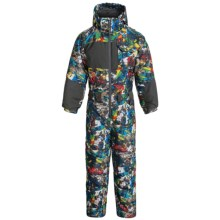Snow Dragons Snow Day Snowsuit - Waterproof, Insulated (For Little Kids) in Graphity Print/Gray - Closeouts