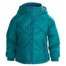 Snow Dragons Somersault Jacket - Insulated (For Little Girls) in Turquoiseuoise Radiance/Pink Dazzle/Purple Berry - Closeouts