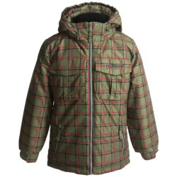Snow Dragons Spunky Jacket - Insulated (For Little Boys) in Army Plaid