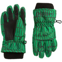 Snow Dragons Whirlwind Gloves - Insulated (For Little Kids) in Green Heilo Print - Closeouts