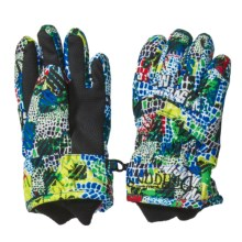 Snow Dragons Whirlwind Gloves - Insulated (For Little Kids) in Scales Print - Closeouts