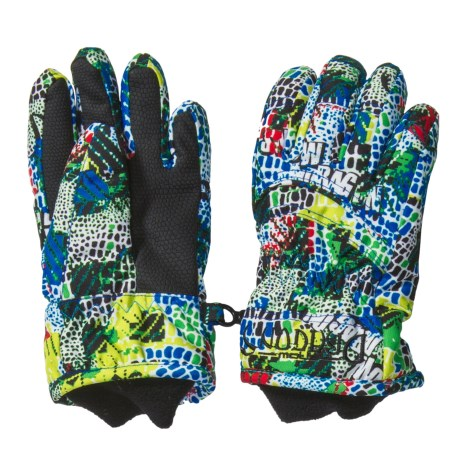 Snow Dragons Whirlwind Gloves - Insulated (For Little Kids) in Scales Print
