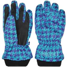 Snow Dragons Whirlwind Gloves - Insulated (For Little Kids) in Topaz Houndstooth - Closeouts