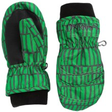 Snow Dragons Whirlwind Mittens - Waterproof, Insulated (For Little and Big Kids) in Green Heilo Print - Closeouts