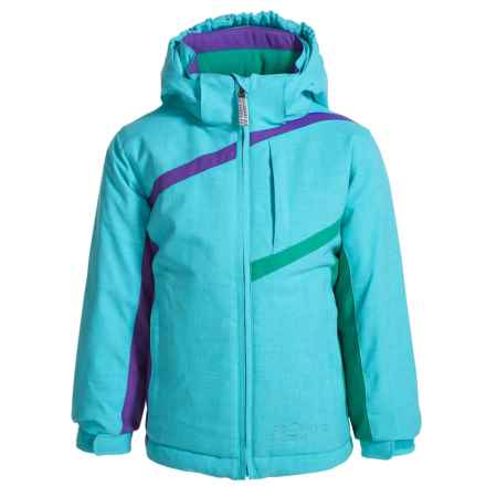 Snow Dragons Zingy Ski Jacket - Waterproof, Insulated (For Toddlers and Little Girls) in Bluefish - Closeouts