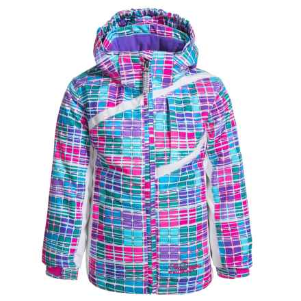 Snow Dragons Zingy Ski Jacket - Waterproof, Insulated (For Toddlers and Little Girls) in Boxy Print - Closeouts