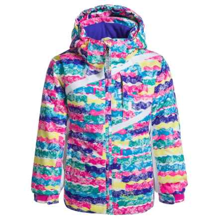 Snow Dragons Zingy Ski Jacket - Waterproof, Insulated (For Toddlers and Little Girls) in Squiggle Print - Closeouts