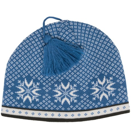 Snowflake Jacquard Beanie - Wool (For Women)
