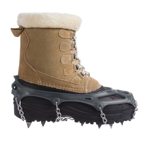 Snowline Chainsen Pro Winter Boot Tractions (For Men and Women) in Grey