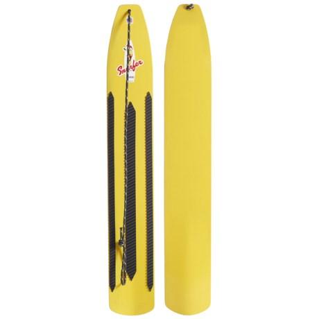 Snurfer Classic Snowboard in Yellow