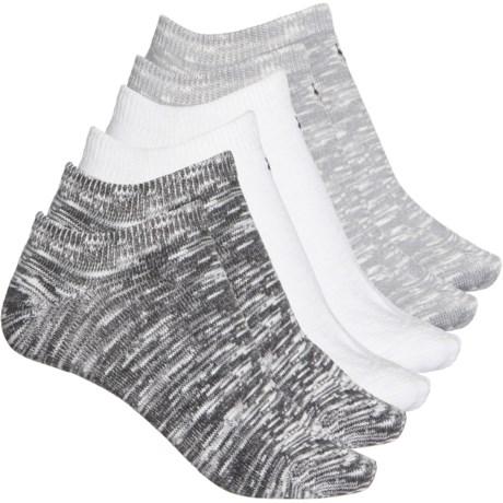 So-Soft Slub No-Show Socks - 6-Pack, Below the Ankle (For Women) - BLACK (M ) -  Bearpaw