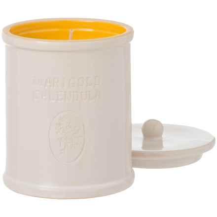 Soap & Paper Factory Farmacie Marigold Calendula Soy Candle - 9.25 oz., Ceramic Jar in White/Yellow - Closeouts