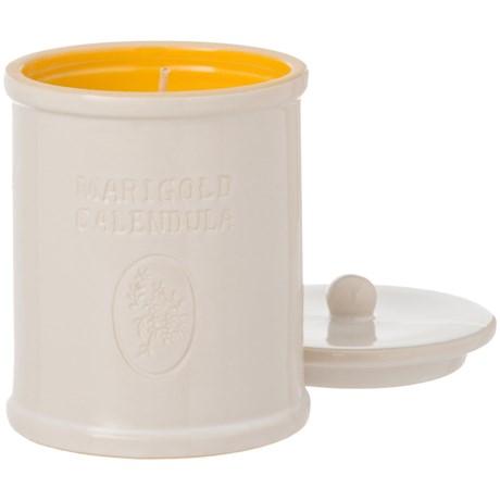 Soap & Paper Factory Farmacie Marigold Calendula Soy Candle - 9.25 oz., Ceramic Jar in White/Yellow