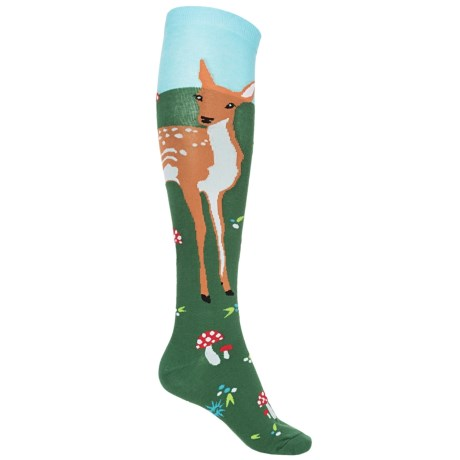 Sock It To Me Funky Socks - Over the Calf (For Women) in Fawn Memories