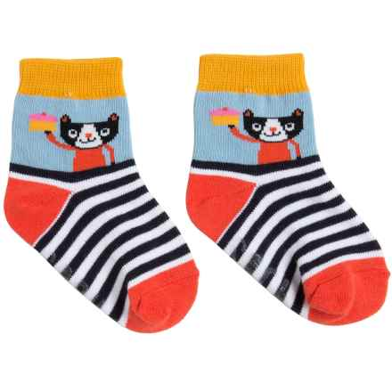 Sock It To Me Socks - Crew (For Toddlers) in Meow - Closeouts