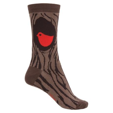 Sock It To Me Socks - Crew (For Women) in Put A Bird On It