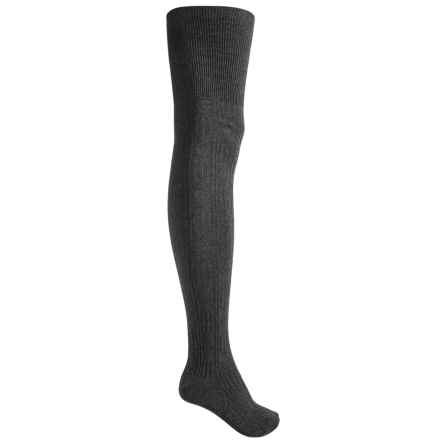 Sock It To Me Socks - Over the Knee (For Women) in Cable Charcoal Gray - Closeouts