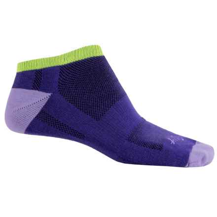 SockGuy Channel Air No-Show Socks - Below-the-Ankle (For Men and Women) in Grapeaid - Closeouts