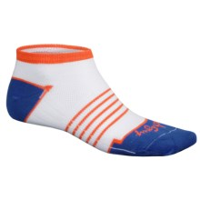 SockGuy Classic Collegiate No-Show Socks (For Men and Women) in White/Orange/Blue - Closeouts
