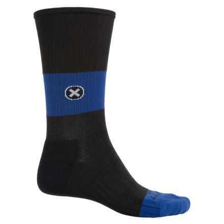 SockGuy Compression Fit Socks - Crew (For Men and Women) in Black/Blue - Closeouts