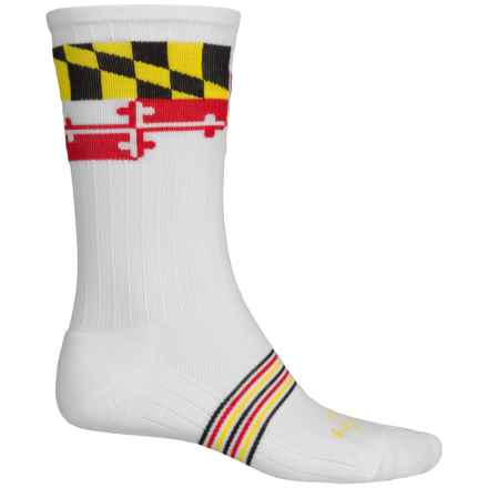 SockGuy Compression Fit Socks - Crew (For Men and Women) in Lax - Closeouts