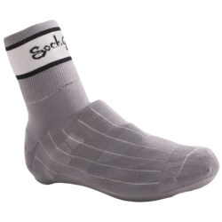 SockGuy Cycling Shoe Cover Sock (For Men and Women) in Grey