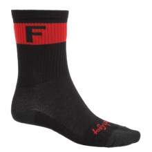 SockGuy F2 Socks - Crew (For Men and Women) in Black/Red - Closeouts