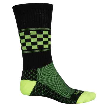 SockGuy High-Performance Pattern Socks - Crew (For Men and Women) in Chex - Closeouts
